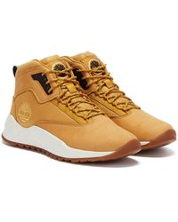 Timberland Solar Wave Mid Wheat Sneakers - Brown