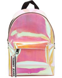 Tommy Hilfiger Tommy Jeans Logo Tape Pu Multi Mini Backpack - Multicolor