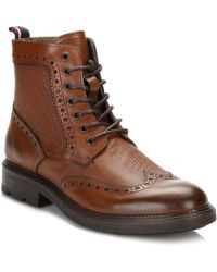 Tommy Hilfiger Mens Brandy 5a2 Brogue Boots - Brown