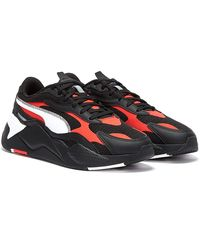 PUMA Rs-x3 Hard Drive / Red / White Sneakers - Black