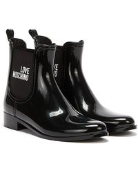 Love Moschino Rain Love Boots - Black