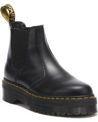 Dr. Martens Dr. Martens 2976 Quad Womens Smooth Black Boots