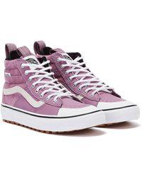 Vans SK8-Hi MTE 2.0 DX Valerian Liac Rosa Weiße Sneaker - Pink