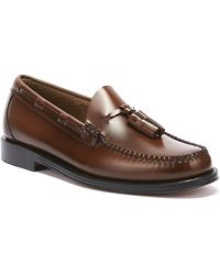 G.H.BASS G.h. Bass & Co. Weejuns Heritage Larkin Mens Mid Brown Tassel Loafers