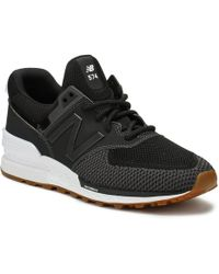 New Balance - Mens Black Ms574 Trainers - Lyst