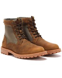 Barbour Cheviot Derby Mens Umber Brown Boots