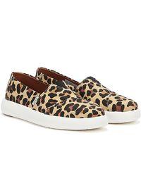 TOMS Alpargata Mallow Leopard Print Shoes - Natural