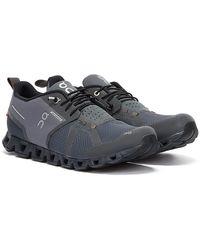 On Running Cloud Waterproof Dunkelgrau / Silber Sneakers