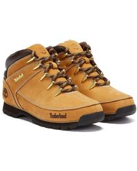 Timberland Mens Wheat Euro Sprint Hiker Boots - Yellow