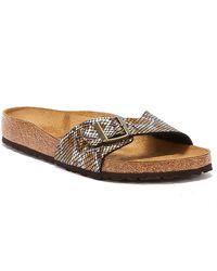 Birkenstock Madrid Birko Flor Python Womens Brown Sandals