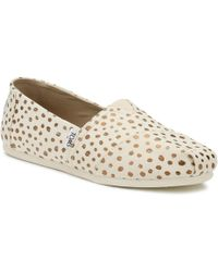 48b1f53e8 TOMS Grey Chambray Polka Dot Women's Classics in Gray - Lyst