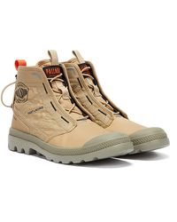 Palladium Pampa Travel Lite Mens Desert Boots - Natural