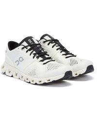 On Running Cloud X Baskets Blanc / Noir Pour