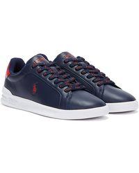 Ralph Lauren Heritage Court II Marineblaue / Rot Sneakers