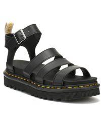 Dr. Martens Dr. Martens Womens Black Vegan Blaire Sandals