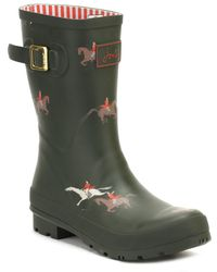 Joules - Womens Olive Horse Molly Welly Boots - Lyst
