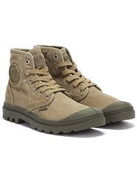 Palladium Pampa Hi Dusky Boots - Green