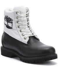 Timberland 6 Inch Premium Puffer Mens Black / White Boots