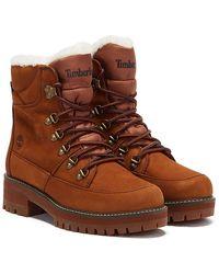 Timberland Courmayeur Valley Hiker Fur Lined Boots - Brown