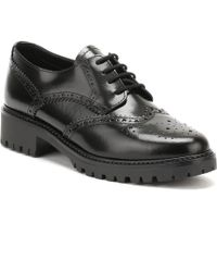 TOWER London - Womens Black Box Leather Lace Up Shoes - Lyst