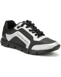 Calvin Klein Jeans - Mens Black / Silver Morris Trainers - Lyst