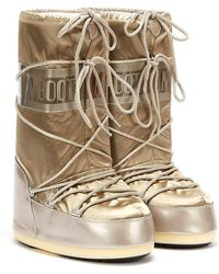 Moon Boot - S Classic Icon Glance Platinum Boots - Lyst