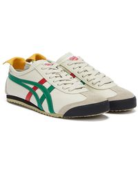 Onitsuka Tiger Mexico 66 Birch / Green Trainers - Natural