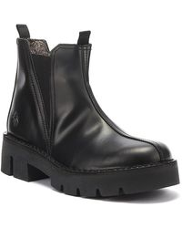 Fly London Baco Womens Glass Black Leather Boots