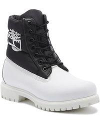 Timberland 6 Inch Premium Puffer Mens White / Black Boots