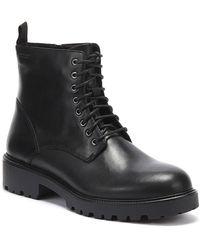 Vagabond Kenova Womens Lace Up Black Leather Boots