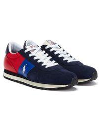 Ralph Lauren Train 85 Marineblaue / Rot / Königsblau Sneakers