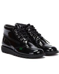 Kickers Kick Hi Patent Boots - Black