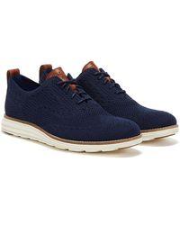 Cole Haan OriginalGrand Stitchlite Flügelspitze Oxford Navy / Elfenbein Sneaker - Blau
