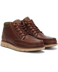 Barbour Victory Mens Teak Brown Boots