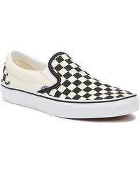 Vans Og Classic Checkerboard Slip-on Trainers - White