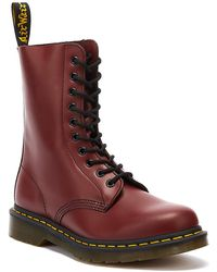 Dr. Martens Dr. Martens1490 Womens Smooth Cherry Red Leather Boots