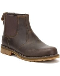 Timberland Mens Gaucho Dark Brown Larchmont Chelsea Boots