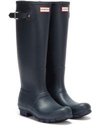HUNTER Original Tall Rubber Wellington Boots - Blue