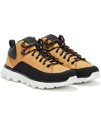 Timberland Treeline Low Leather Mens Wheat Yellow Sneakers