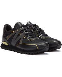 BOSS by HUGO BOSS Hugo Parkour Runn / Gold Trainers - Black
