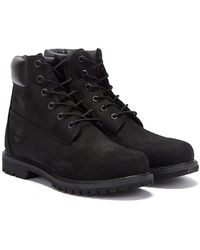 Timberland 6-Inch Premium Leather Boots - Black