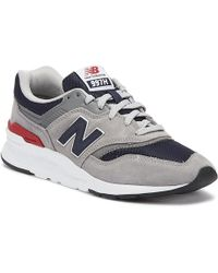 New Balance 997 Mens Grey / Navy Trainers - Gray
