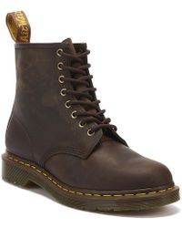 Dr. Martens - Dr. Martens 1460 Crazy Horse Gaucho Brown Leather Ankle Boots - Lyst