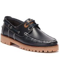 Barbour Stern Leather Shoes - Blue