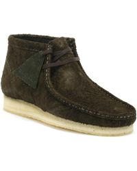 Clarks Wallabee Boot - Dark Green