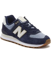 New Balance 574 Mens Pigment Navy Sneakers - Blue