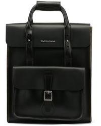 Dr. Martens - Dr. Martens Black Kiev Leather Large Backpack - Lyst