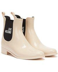 Love Moschino Rain Love Light Boots - White