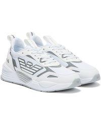 Emporio Armani Ea7 Ace Runner / Silver Trainers - White