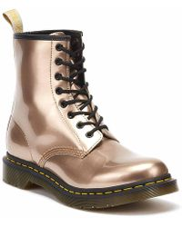 Dr. Martens - Dr. Martens Vegan 1460 Chrome Womens Rose Gold Boots - Lyst